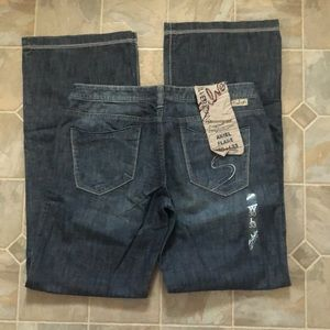 Silver Ariel Flare Jeans new